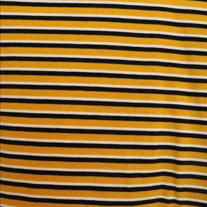Pitaya Tops - Yellow black striped shirt